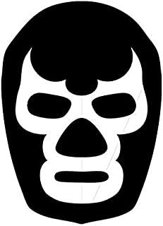 Blue Demon Lucha Libre Mask - Sticker Graphic - Auto, Wall, Laptop, Cell, Truck Sticker for Windows, Cars, Trucks