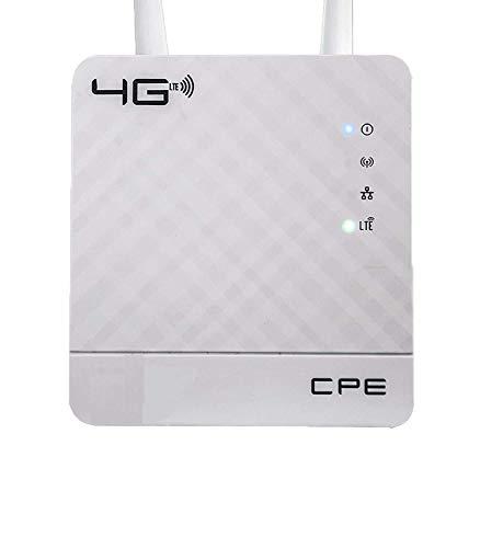 4G LTE CPE WiFi Network Router Broadband Unlock 4G 3G 2G Mobile Hotspot WAN & LAN Port Dual External Antennas Gateway with Sim Card Slot