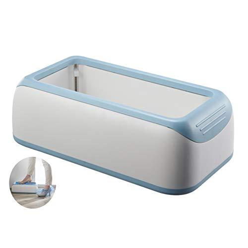 LTLJX Dispensador De Cubierta De Zapatos Automático,Resistente al Agua y al Polvo Funda Zapatos con 30pcs Cubrezapatos Desechables para Laboratorio Hogar,Azul