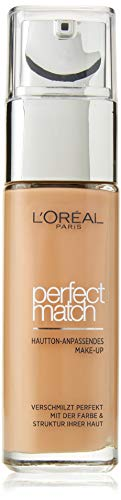L'Oréal Paris Perfect Match Make-up 7.R/7.C Rose Amber, flüssiges Make-up, hautton-anpassend, pflegt die Haut mit Hyaluron und Aloe Vera