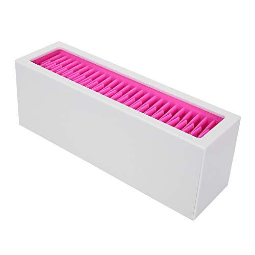 Mxzzand Soporte de exhibición práctico del Cepillo cosmético del Estante del Soporte del Maquillaje para el Cepillo cosmético para el Uso Diario(Barbie Powder + White)