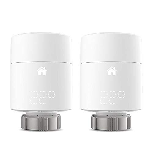 tado ° Smartes Heizkörper – Thermostat (Vertikale Montage) - Duo Pack, Zusatzprodukte für Einzelraumsteuerung, intelligente Heizungssteuerung