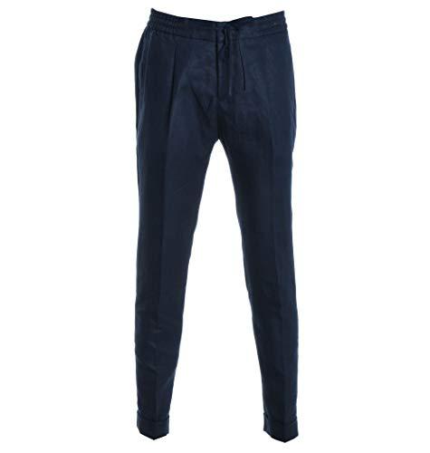 PAOLO PECORA Luxury Fashion Mens Pants Summer Blue
