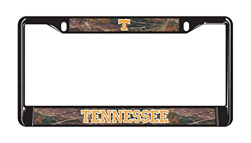 Fhdang Decor Tennessee Vols Black Metal CAMO License Plate Frame Aluminum License Plate Frame Covers,License Tag Holder Auto Tag Car Accessories New Car Gift 6' X 12'