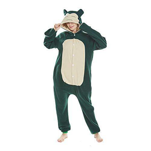 GZSC Dibujos Animados Pijama Zapatillas Traje Anime Onesies Adultos Hombres Mujeres Pareja Pijama Lindo Gracioso con Capucha Polar Polar vellón Monos (Color : A, Size : 1S)