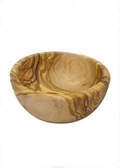 Ciotola in legno d'ulivo, diametro ca. 12 cm