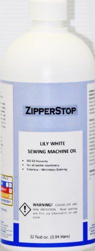 Sewing Machine Oil ~ Lily White ~ 32 Fluid OZ.(0.94 liters) Made in U.S.A.