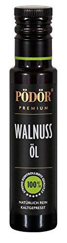 PÖDÖR - Walnussöl 100 ml - kaltgepresst - naturbelassen - ungefiltert