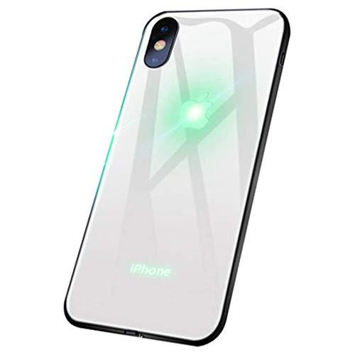 ZHANGMEI Glowing Funda para iPhone 12 Pro Case Logo Efecto De Luz De Color LED Luz Brillante Iluminar Carcasa Case,2,iPhone 7 Plus /8 Plus