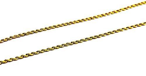 Collana da Donna in Oro Giallo 18kt (750) Catenina Corda Laser