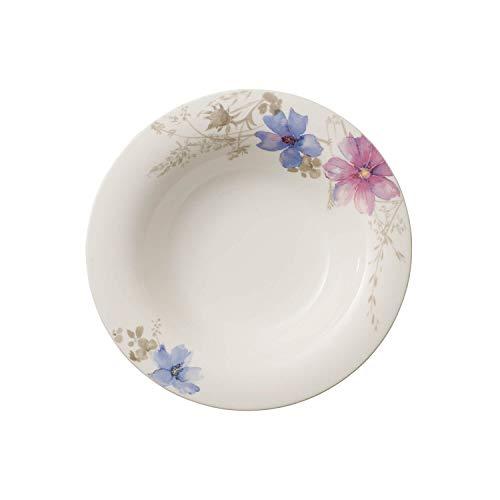 Villeroy & Boch Mariefleur Piatto Fondo, 23 cm, Porcellana Premium, Gris