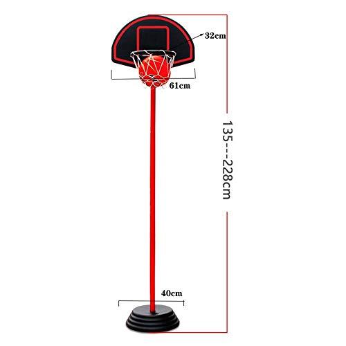 XINGLIAN Basketballkorb Für Jugendliche Basketball-Ständer Tragbar Outdoor-Sportarten Höhenverstellbar 135-228 cm