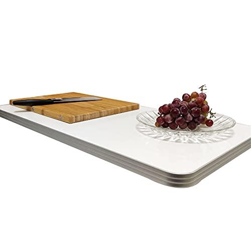 ZWYSL Escritorio De Pared Plegable, Escritorio Flotante, para Dormitorio, Balcón, Cocina Mesa Plegable De Pared, Blanco 12 Tamaños (Color : A, Size : 60×40cm)