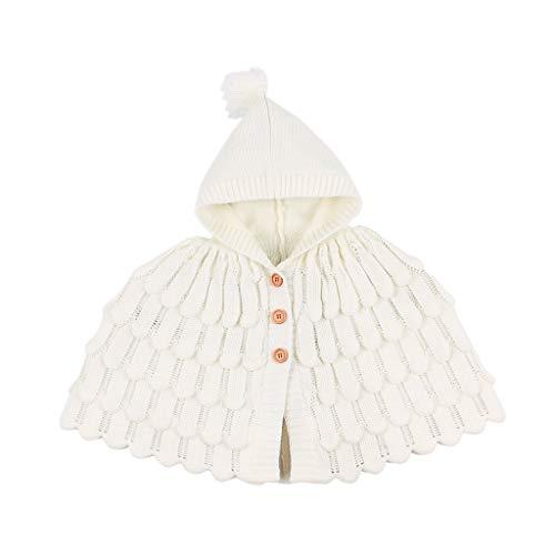 Dasongff Mooie baby winter, herfst, warme capuchon, cape, omhanging, poncho, mantel voor kinderen, kleine kinderen, baby's, meisjes, jongens