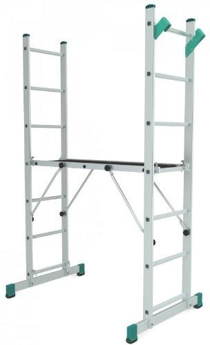 Preisvergleich Produktbild Aluminium Arbeitsplattform Arbeitsgerüst Multifunktional verstellbar bis 4 Meter