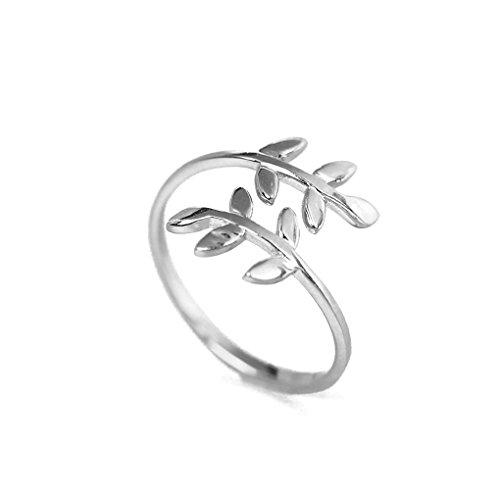 Anillo de la naturaleza árbol hoja anillo abierto moda de aleación de zinc accesorios para el dedo anillo de mujer lady girl Bobury