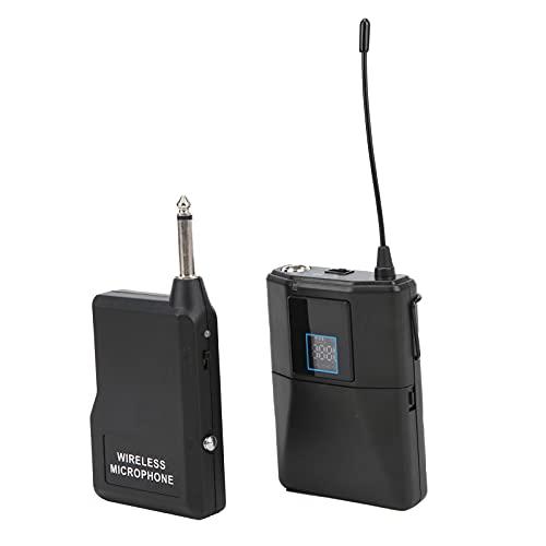 Lav Mic, 10dBm Transmitting Power Micrófono Lavalier Manos Libres Pantalla LCD Emparejamiento UHF Sincronización De ID Para Grabación De Video Para Cursos Para Entrevistas