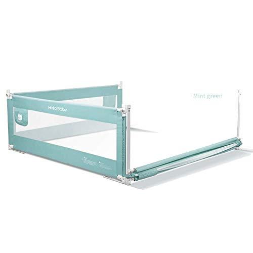 FFYN Cama Alta para niños pequeños Protección para rieles Seguridad Dormir Elevación Vertical Bolsa de Almacenamiento Malla Protección Transpirable, Tamaño Completo (Color: Verde, Tamaño: 2m + 1.