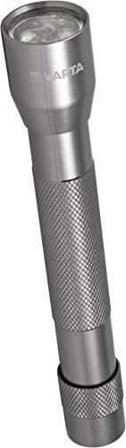 Varta 5x 5 mm Multi LED Aluminium Light (inkl. 2x High Energy AA Batterien Taschenlampe Flashlight Leuchte Taschenleuchte Taschenlicht für Haushalt, Camping, Angeln, Garage, Stromausfall, Outdoor)