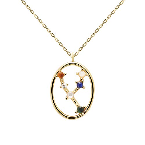 P D Paola Ladies Necklace Star Sign Taurus Gold Plated Silver CO01-345-U