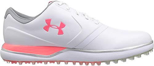 mejores Zapatos de golf para mujer Under Armour UA W Performance SL, Zapatos de Golf para Mujer, Blanco (White 100), 42 EU