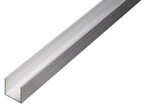 GAH-Alberts 473808 U-Profil - Aluminium, natur, 1000 x 6 x 6 mm