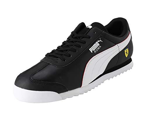 PUMA x Scuderia Ferrari Roma Negro Hombres Entrenadores Con Cordones Zapatos 306083 10, color Negro, talla 42 EU