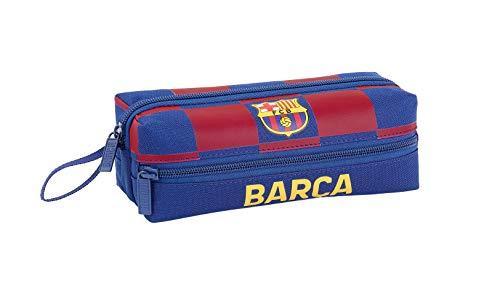 FCB FC Barcelona Estuche, Niños Unisex, Azul Marino, 21x8x6