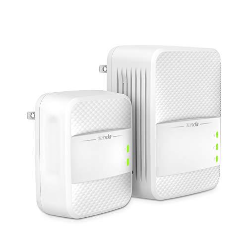 Tenda AV1000 Powerline Wi-Fi Extender, Dual Band AC Wireless, Gigabit Port, Plug and Play (PH10)