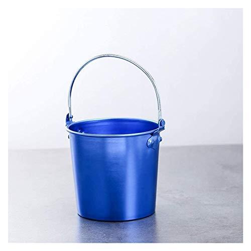 SQHY Cubo de Hielo de Acero Inoxidable Cubo de Hielo Creativo Mini Cubo de Hielo Cubo de Hielo Cubo de Hielo Cubo de Hielo Frasco Fritón Cubo Frito Pollo Baril Bar KTV 21330 (Color : Blue)