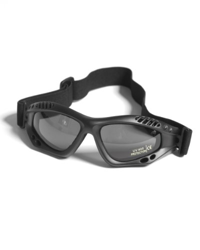Mil-Tec Commando Brille AIR PRO SCHWARZ Smoke