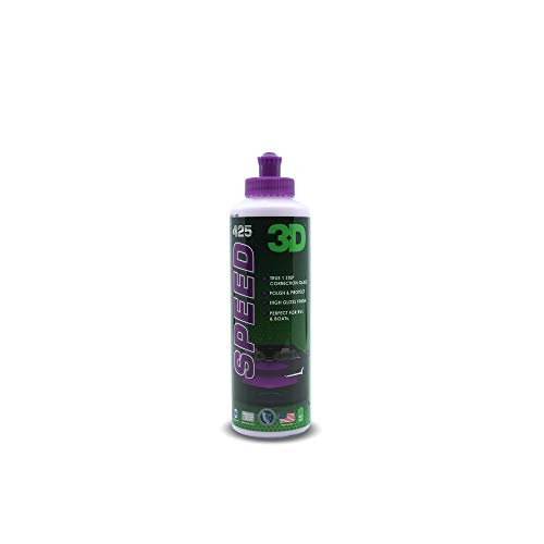 3D Speed Car Polish & Wax – 8oz – All-In-One Scratch Remover & Swirl Correction with Wax Protection