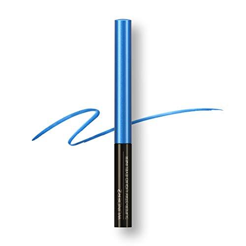 WUNDER2 SUPER-STAY Liquid Eyeliner -  Flüssiger Eyeliner Wasserfest, abriebfest und bis zu 24 Stunden haltbar, Farbe: Electric Black