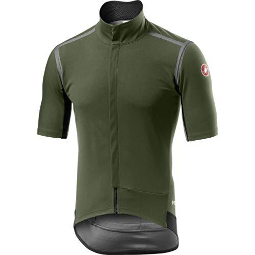 CASTELLI Gabba Ros, Chaqueta deportiva para hombre, Hombre, 4519502, Verde militar, L