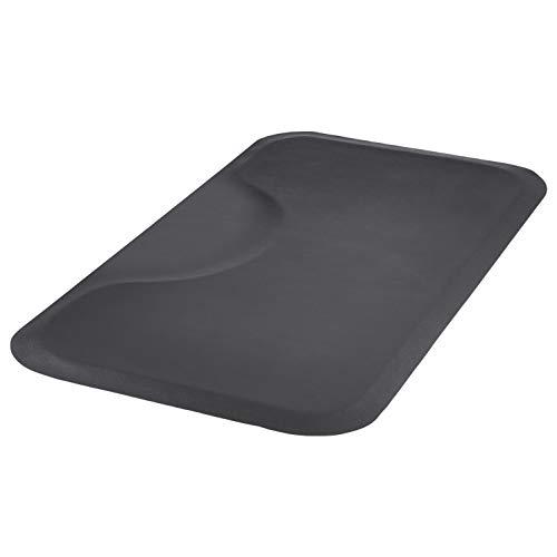 Amazon Basics 3 ft. x 5 ft. Salon & Barber Shop Chair Anti-Fatigue Floor Mat - Black Rectangle - 1/2 in. Thick