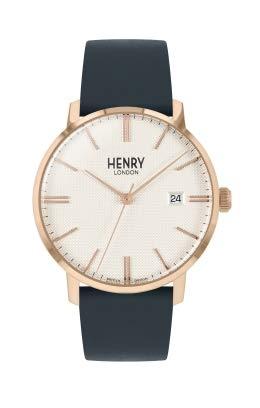 Henry London Orologio Analogico Quarzo Unisex Adulto con Cinturino in Pelle HL40-S-0400