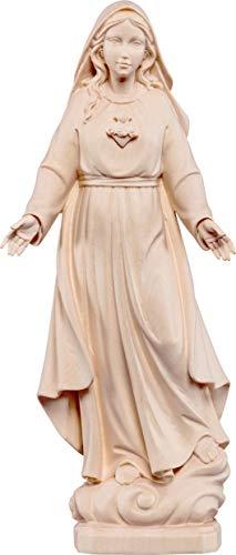 Ferrari & Arrighetti Imagen de la Virgen de los Dolores en Talla de Madera con Acabado Natural Que Mide 10 cm - Demetz Deur