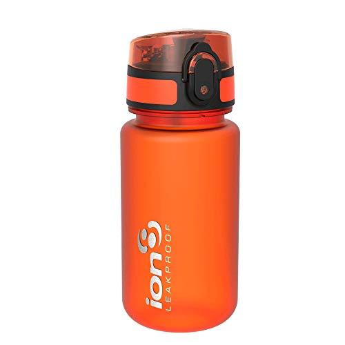 Ion8 Bottiglia per l'acqua, a Prova di perdite, Senza BPA, Bambino, 350ml / 12oz, Arancia