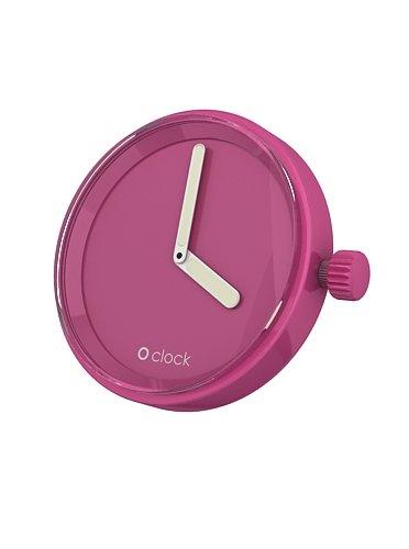 Fullspot O clock Cassa Magenta MEC.TE - Orologio da polso Unisex