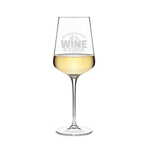 Leonardo Weißweinglas 560 ml Weinglas mit individueller Gravur als Geschenk für Frauen - Wine o'clock