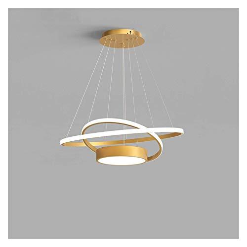 HLY Lustres créatifs, lustres lustre de salle à manger lampe à LED circulaire simple moderne personnalité créative barre nordique lampe de salle à manger lumière de suspensión
