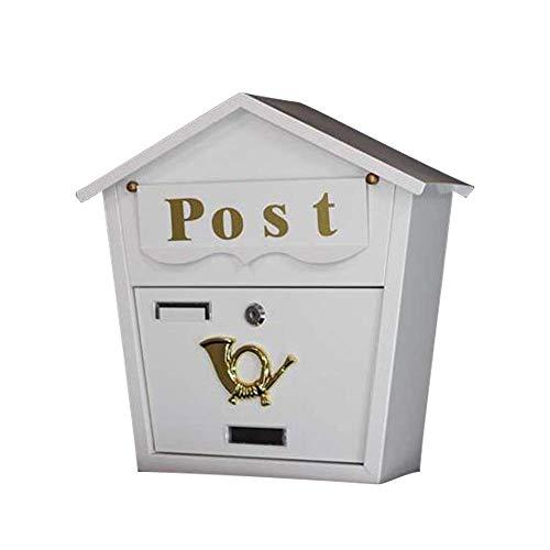 AWJ Wandbehang Briefkasten Villa Outdoor Briefkasten Wasserdichter Diebstahlsicherer Briefkasten, Käfige Briefhalter, Postmanager Bordsteinkante