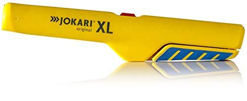 JOKARI Entmanteler XL (für Kabel mit ø 8-13 mm, verschiedene Kabeltypen, zum Abisolieren in Gerätedosen, Vier-Klingen-Anordnung) 460142