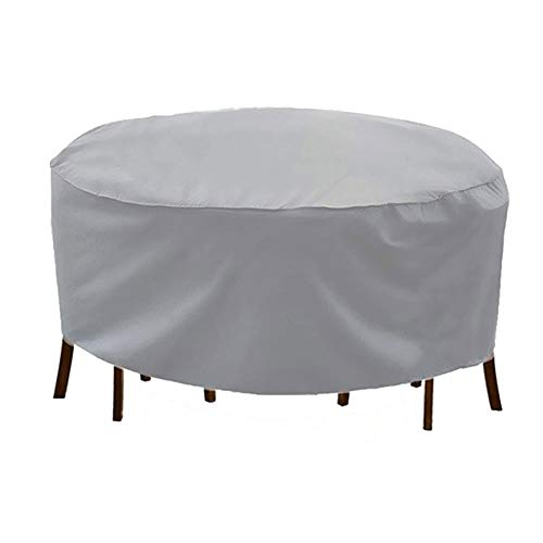 NINGWXQ Round Table Cover Garden Furniture Cover Waterdicht Tarpaulin Stof/Sun Protection 210D Oxford doek koord terras, op maat gemaakte, 2 kleuren (Color : Silver, Size : 240x100cm)