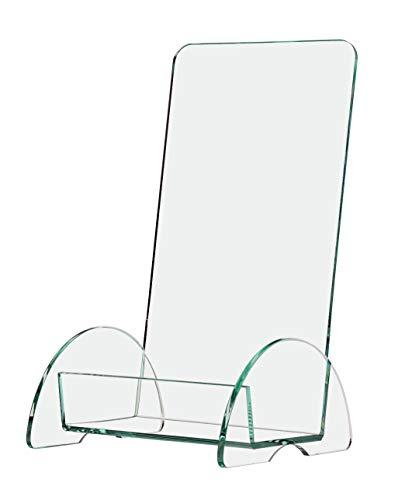 Marketing Holders 4インチ ユーロ三つ折りパンフレットホルダー ユニークなパンフレット ディスプレイスタンド カウンターまたはテーブルトップに 丈夫なアクリル バリューパック