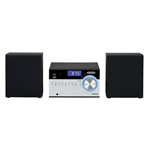 """Jensen JBS-200 Bluetooth CD Music System with Digital AM/FM Stereo Receiver and Remote Control 2"""",Black"""