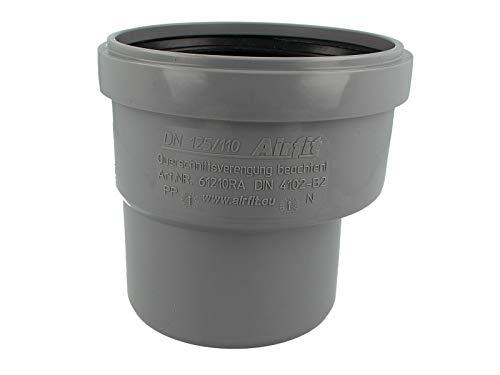HT-Reduzieradapter/Muffe - Übergangsrohr I/A DN 125/100 - exzentrisch