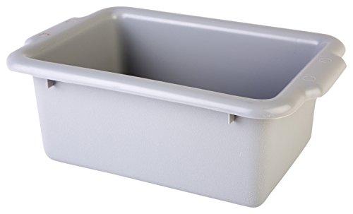 Consolidated Plastics 67003 Tote Box, Polyethylene, Gray, 12.5