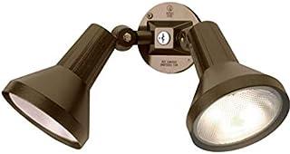 "Ciata 15"" Outdoor Security Flood Light 2 Head with Heavy Duty Cast Aluminum Body 150W PAR38 Weather Proof Dark Bronze Finish"