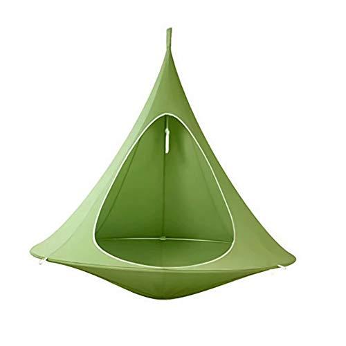 uDaShaA Schaukel Hängemattenstuhl für Kinder, Wandern Camping Hängesessel Schaukel Tragbare Oxford Seilschaukel wasserdichte Form Konischer Zeltbaum Hängemattenstuhl für drinnen und draußen